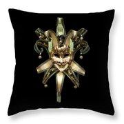 Venetian Mask Throw Pillow by Fabrizio Troiani