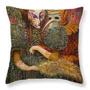 Venetian Masks Throw Pillow