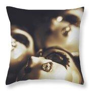 Venetian Masquerade Mask Rings Throw Pillow