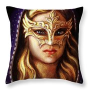 Venetian Mystery Throw Pillow