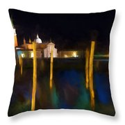 Venetian Nights Throw Pillow
