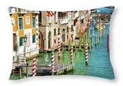 Venetian Palaces Throw Pillow