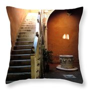 Venetian Stairway Throw Pillow