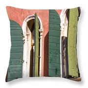 Venetian Windows Throw Pillow