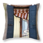 Venetian Windows Shutter Throw Pillow