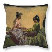 Venetian Women Throw Pillow