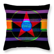 Venetion Neon Throw Pillow