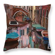 Venezia A Colori Throw Pillow