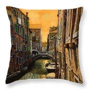 Venezia Al Tramonto Throw Pillow