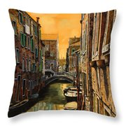 Venezia Al Tramonto Throw Pillow