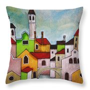 Venezia Scorcio Throw Pillow
