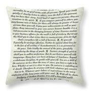 Venezio Style Desiderata Poem Throw Pillow