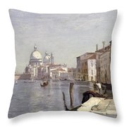 Venice - View Of Campo Della Carita Looking Towards The Dome Of The Salute Throw Pillow