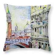 Venice 7-2-15 Throw Pillow by Vladimir Kezerashvili