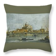 Venice. A View Of The Church Of San Giorgio Maggiore Throw Pillow