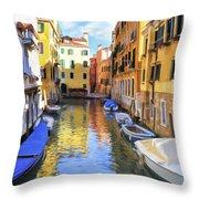 Venice Alleyway 2 Throw Pillow
