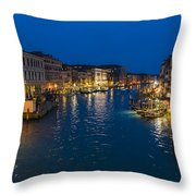 Venice And The Grand Canal In The Evening Throw Pillow
