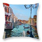 Venice  Aspetando Throw Pillow
