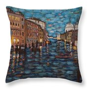 Venice At Night Throw Pillow