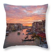 Venice At Sunset - Italy Throw Pillow