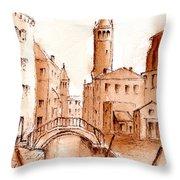 Venice Backwater Throw Pillow