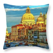 Venice Basilica Throw Pillow