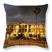 Venice Beach. Golden Sunset Throw Pillow