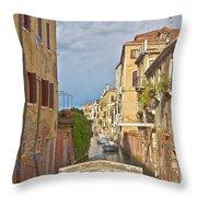 Venice Bridge Crossing 1 Throw Pillow