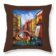Venice Bridge Throw Pillow