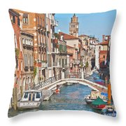 Venice Canaletto Bridging Throw Pillow