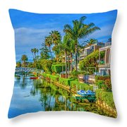 Venice Canals And Houses 4 Throw Pillow
