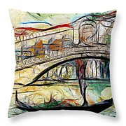 Venice Canals Throw Pillow