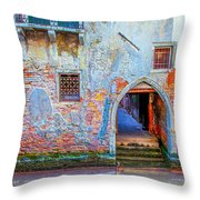 Venice Canareggio Palace Throw Pillow