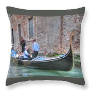 Venice Channels Throw Pillow