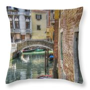 Venice Channels1  Throw Pillow