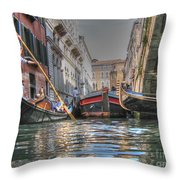 Venice Channelsss Throw Pillow