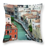 Venice City Of Canals Throw Pillow by Julie Palencia