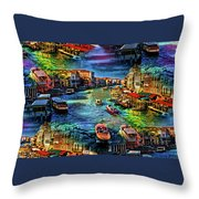 Venice Coming And Going Throw Pillow