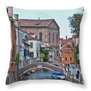 Venice Double Bridge Throw Pillow