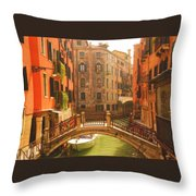 Venice Dream Throw Pillow by Denise Darby