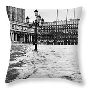 Venice: Flood, 1966 Throw Pillow