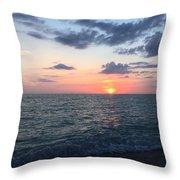 Venice Florida Sunset Throw Pillow