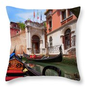 Venice From A Gondola Throw Pillow
