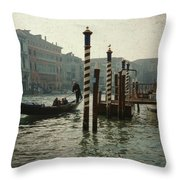 Venice Gondola Throw Pillow