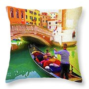 Venice Gondola Series #1 Throw Pillow