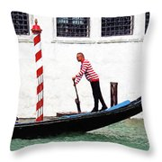Venice Gondola Series #5 Throw Pillow