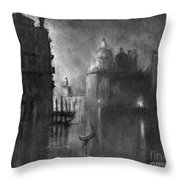 Venice, Grand Canal, C1905.  Throw Pillow
