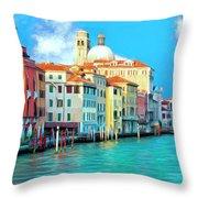 Venice Grand Canal Throw Pillow