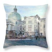 Venice Grand Canal Watercolour  Throw Pillow