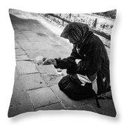 Venice Gypsy Woman Throw Pillow